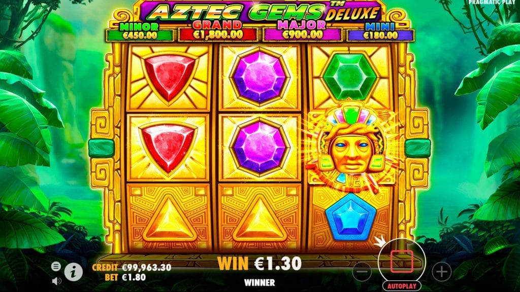 aztec gems deluxe slot screenshot