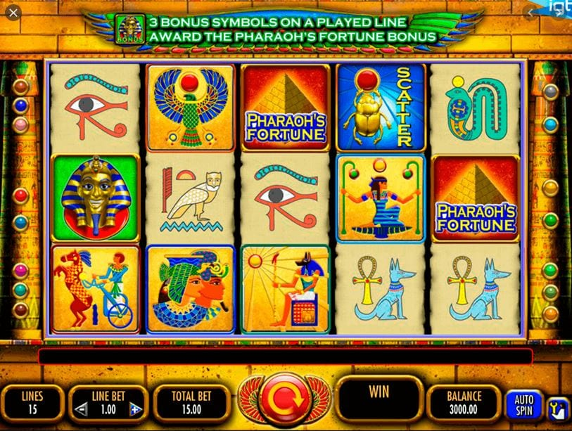 pharoahs fortune igt slot